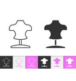 dummy simple black line icon vector image