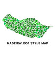 eco green collage portugal madeira island vector image vector image