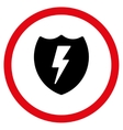 Electric Shield Flat Rounded Icon vector image vector image