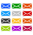 envelope symbols in 12 colors as contact support vector image