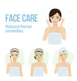 face care vector image vector image