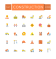 Flat Construction Icons vector image