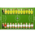 Football background with cartoon players vector image vector image
