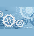 Gears blue background vector image vector image