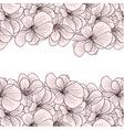 Geranium flowers background vector image vector image