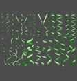 green confetti collection vector image vector image