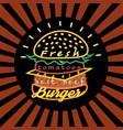 icon a delicious burger vector image vector image