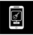 icon of smart phone mobile music application vector image vector image