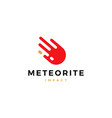 impact meteor logo icon vector image vector image
