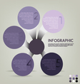 infographic plan vector image vector image