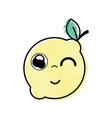 kawaii nice funny lemon fruit vector image vector image