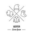 line banner winter vector image vector image