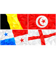 low poly flag abstract polygonal triangular vector image vector image