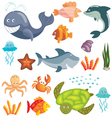 Marine animals set vector | Price: 3 Credits (USD $3)