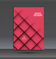 modern brochure design template with vector image