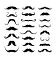 mustaches icons set isolated symbol eps 10 vector image