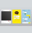 online messenger and photo app korean kakao talk vector image vector image
