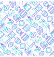 ophthalmologist seamless pattern vector image