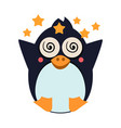penguin feeling dizzy vector image