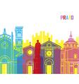 Prato skyline pop vector image vector image