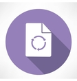 Refresh Loop Recycling Icon vector image