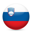 Round glossy icon of slovenia vector image vector image