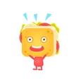 Sandwich Character Cheering vector image vector image