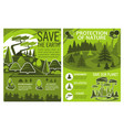 save earth poster of eco or environment protection vector image vector image