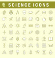 science icons in trendy thin line style vector image vector image