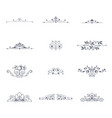 set of decorative ornaments vector image