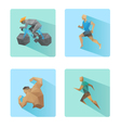 Set of flat design sport icons isolated vector image