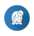 sleeping woman flat design long shadow glyph icon vector image vector image