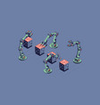 smart industry isometric robotic vector image