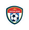 soccer fever simple vintage shield footbal emblem vector image vector image
