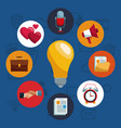 social network and media icons vector image vector image