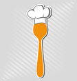 Spoon with chef hat vector image