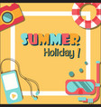 summer holiday vacation poster flat vector image vector image