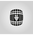 The wine icon Cask and keg alcohol symbol UI vector image vector image