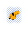 Whistle icon comics style vector image vector image
