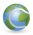 world globe tennis ball concept vector image