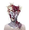 Zombie portrait vector image