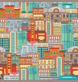 flat cityscape seamless pattern vector image