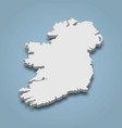 3d isometric map ireland is an island in europe vector image vector image