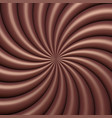 abstract chocolate swirl background vector image vector image