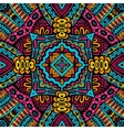 Abstract festive colorful tribal pattern vector image vector image
