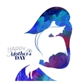 Acrylic painting mother silhouette with her baby vector image vector image