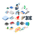 ante icons set isometric style vector image