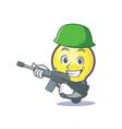 army light bulb character cartoon vector image vector image
