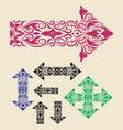 Arrow Ornaments Set vector image vector image