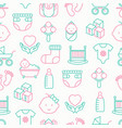 baby care seamless pattern vector image vector image